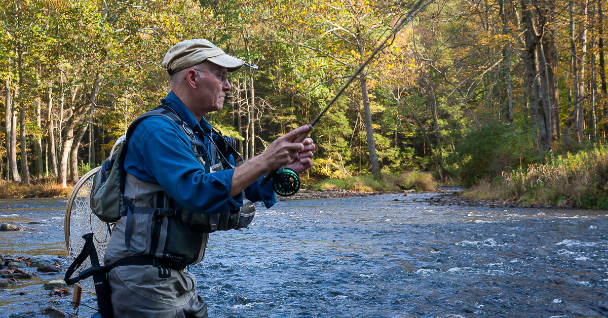 Fly fishing technique: Photo