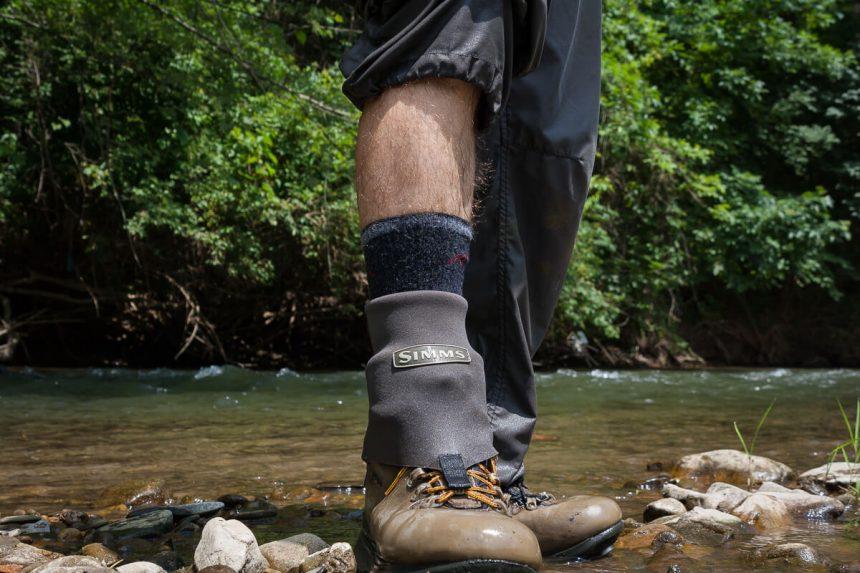7b390c945e20 Hiking socks under the neoprene wading socks. I like it.